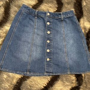 Mossimo Button Down Front Jean Mini Skirt